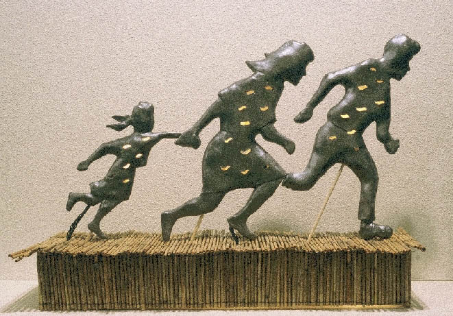Maquette of Memorial for a Perilous Jouney by Larry and Debby Kline
